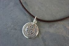 I love softball necklace - sterling silver charm on leather cord- for team coach