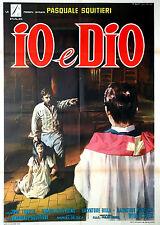 José Torres Pasquale Squitieri IO E DIO manifesto 2F originale 1970