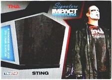 TNA Sting 2011 Signature Impact Jumbo Relic BLUE 24/25