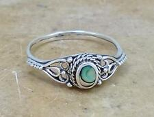 PRETTY STERLING SILVER ABALONE SHELL RING size 9  style# r1660