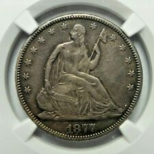 1877 SEATED LIBERTY HALF DOLLAR 50C NGC XF 45 G200