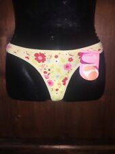 Sears Green Yellow Red Pink Floral Thong Panty Sissy Underwear Size 7/large