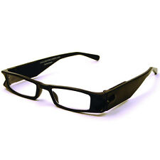 +1.5 Diopter Eschenbach LightSpecs LED Lighted Reading Glasses - Black Liberty