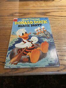 Walt Disney's Donald Duck's Beach Party #1 Dell Comics Golden Age 1954 g/vg-