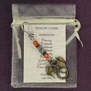 DRAGON TOTEM CHARM Amulet Talisman Symbol Fantasy Mythic Magick Pagan Wicca