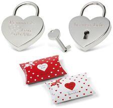 Herz Silber Liebesschloss mit Gravur Valentinstag Weihnachten Liebes Geschenk