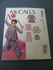 McCALL'S EASY PATTERN #6643 GIRL'S SZ. XSM-SM SLEEPWEAR NEW
