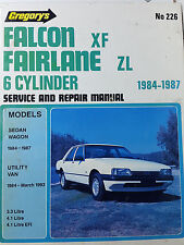 Gregorys SP No 226 Ford Falcon XF Fairlane ZL 6 Cylinder 1984-87 Service Manual