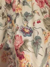 Laura Ashley Melrose Twin Bed Skirt Floral Roses Morning Glory