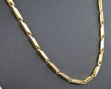 De Lujo Para Hombres Ancla Collar acero inox. Cadena Collar Nuevo ORO kk77