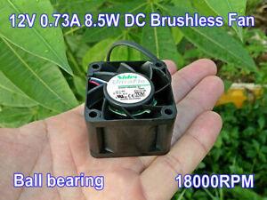 40*40*28mm Cooling Fan For NIDEC UltraFlo 12V 0.73A 4Pin Brushless Ball Fan