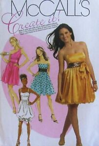 McCall's M5850 size AAX  4-10  short dress with bubble skirt bodice variations