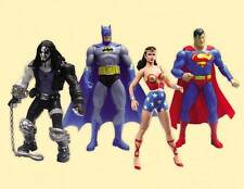 DC COMICS REACTIVATED ACTION FIGURES Superman Wonder Woman Batman Lobo Set of 4