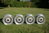 """4x Genuine BBS RS 213 Wheel *Faces Only* - 15"""" ET41 5X114.3 Flat-Backed Rare"""