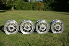 "4x Genuine BBS RS 213 Wheel *Faces Only* - 15"" ET41 5X114.3 Flat-Backed Rare"