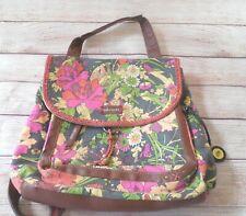Sakroots Flower Power Backpack/Purse by Joshua Davis