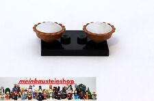2X Lego® Kuchen, medium Dark Flesh Pie, 4622092, 93568pb01, 95686