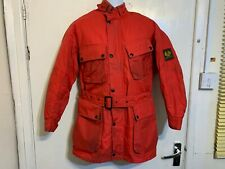 70's BELSTAFF TRIALMASTER XL500 NYLON JACKET & TROUSERS 2 PIECE SUIT SIZE S