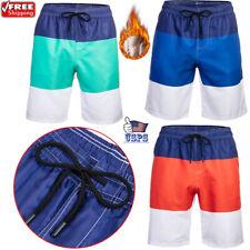 Men's Beach Shorts Quick-Dry Swim Trunks Mesh Lining Sunbathing Workout Short US