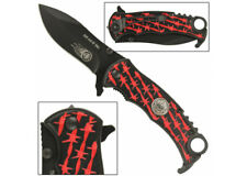 Run Out Of Hell Spring Assist Knife - Red