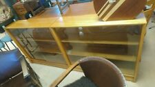 Vintage MCM Walnut (?) Herbert Gibbs Glazed Bookcase/Display Cabinet 2 available
