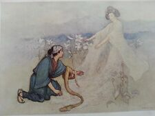 "ANTIQUE PRINT 1923 GREEN WILLOW JAPANESE FAIRY TALES ""KARMA"" BY WARWICK GOBLE"