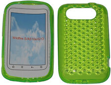 Pattern Soft Gel Jelly Case Protector Cover For HTC Wildfire S A510e G13 Green