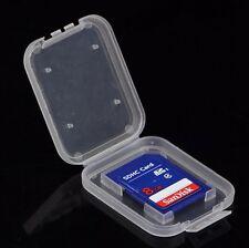 3Pcs SD SDHC Memory Card Case Holder Box Storage Hard Plastic Transparent Holder