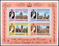 Montserrat 1978 Coronation 25th Anniv MNH M/S #R526