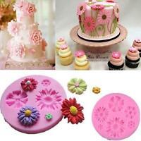 DIY Flower Silicone Mold Fondant Cake Decorating Chocolate Sugarcraft Mould SL