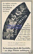 Sanax vibratore la pubblicità di 1914 Pubblicità MASSAGGIO MASSAGGI VIBRAZIONE ad