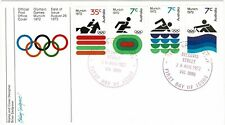 Australia 1972 Olympic Games Munich Official First Day Cover Swimming Rowing