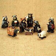 Kurt Adler Nativity Bear Set 9Pc