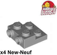 Lego - x4 Plate Modified 2x2 x2/3 with 2 Studs gris/light bluish gray 99206 NEUF