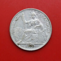 France-Indochine: 20 Cent (Centiemes) 1930-A Silber, KM# 17, #F 1521, SS+-VF+