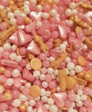 💘 Pink Arrows Cupcake Cake Sprinkles Topper Decoration Pink Pearls Romance 💞