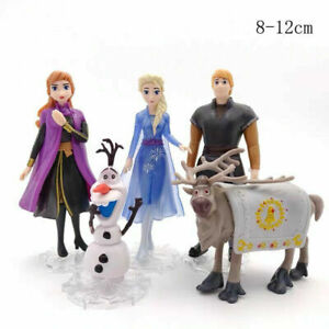 NEW FOR Disney Frozen Princess 2 Cake Toppers 5Pcs Figures Toys Elsa Olaf Anna