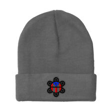 Beanies for Men Puerto Rico Flag Sol Taino B Embroidery Acrylic Skull Cap