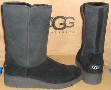 UGG Australia  Black AMIE Classic Slim Suede Wedge Boots Size US 9 NEW #1013428