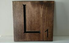 "1 Large Scrabble Tile ""L"" Wooden Letter Wall Decor Hanging 8""x 8"" Wall Art Decor"