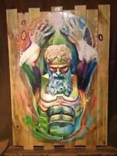 SKAYZOO (FR) graffiti signé sur bois 87x60cm -cope2/seen/taki/quik/RD357/C215