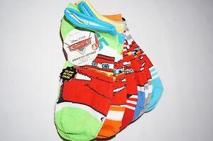 NWT Disney Pixar Cars 6 pair socks BOY shoe size 10.5-4 multi color