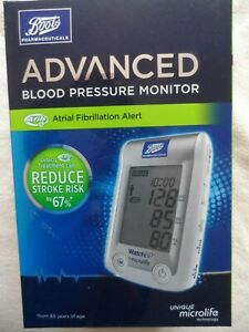BOOTS Advanced Blood Pressure Monitor Atrial Fibrillation Alert Brand New