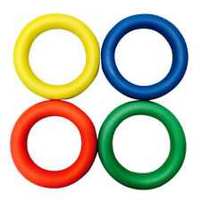 Sponge Rubber Quoits Hoop Colored Rings Traditional Fun Play Throw Game set of 8