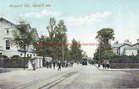 Wales Cardiff Newport Road Vintage Postcard 16.10