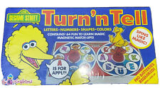 Sesame Street Turn'n Tell By Colorforms 1990 Game Rare!