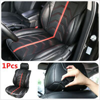 1X Black/Red PU Leather Car Seat Cover Non Slide Auto Cushions Protector Pad MAT