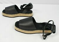 ASOS Women's Jacoba Leather Flatform Espadrilles Sandals OS6 Black Size US:10