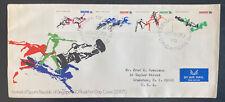 1970 Singapore First Day Cover FDC To Cranston RI Usa Sports Republic