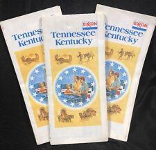 Vtg Exxon Road Map Kentucky Tennessee Travel Brochure 1976 Bicentenial Tourism
